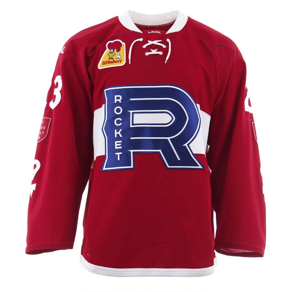 Club De Hockey Chandail porté 2017-2018 #23 niki petti rouge (autographié)