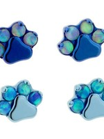 Ti Gem/Opal Paw Print Threadless Pin