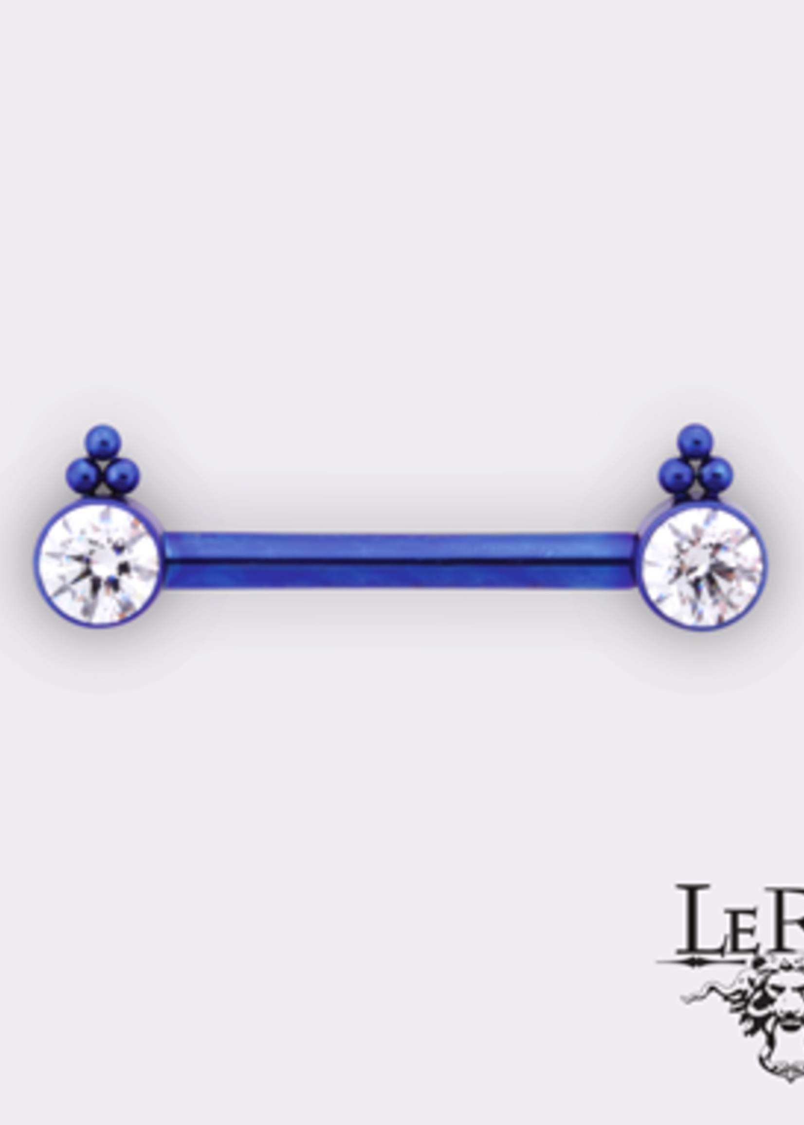 "14g 9/16"" Ti Bijoux Side Set HC1TT (Single Barbell)"
