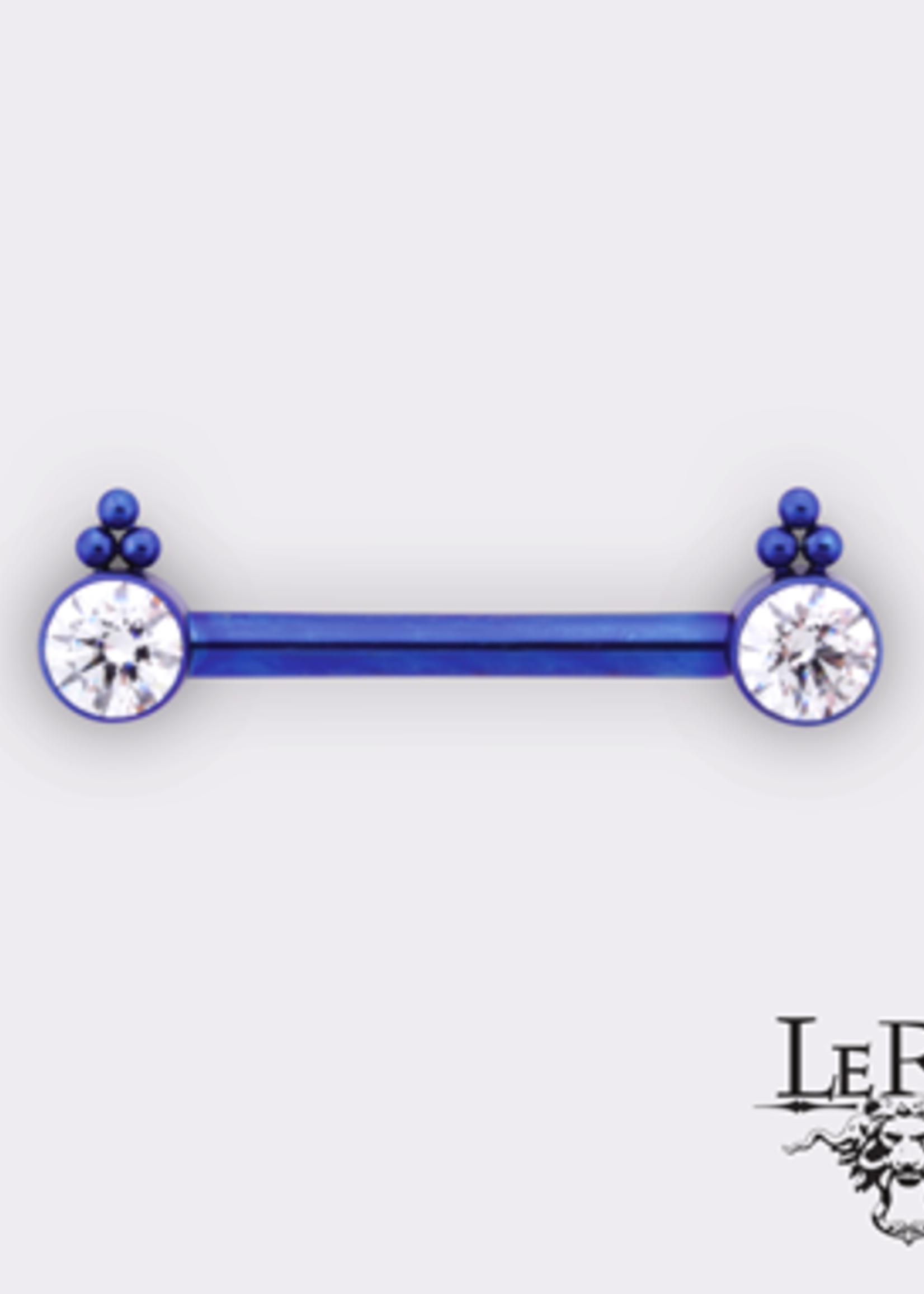 "14g 5/8"" Ti Bijoux Side Set HC1TT (Single Barbell)"