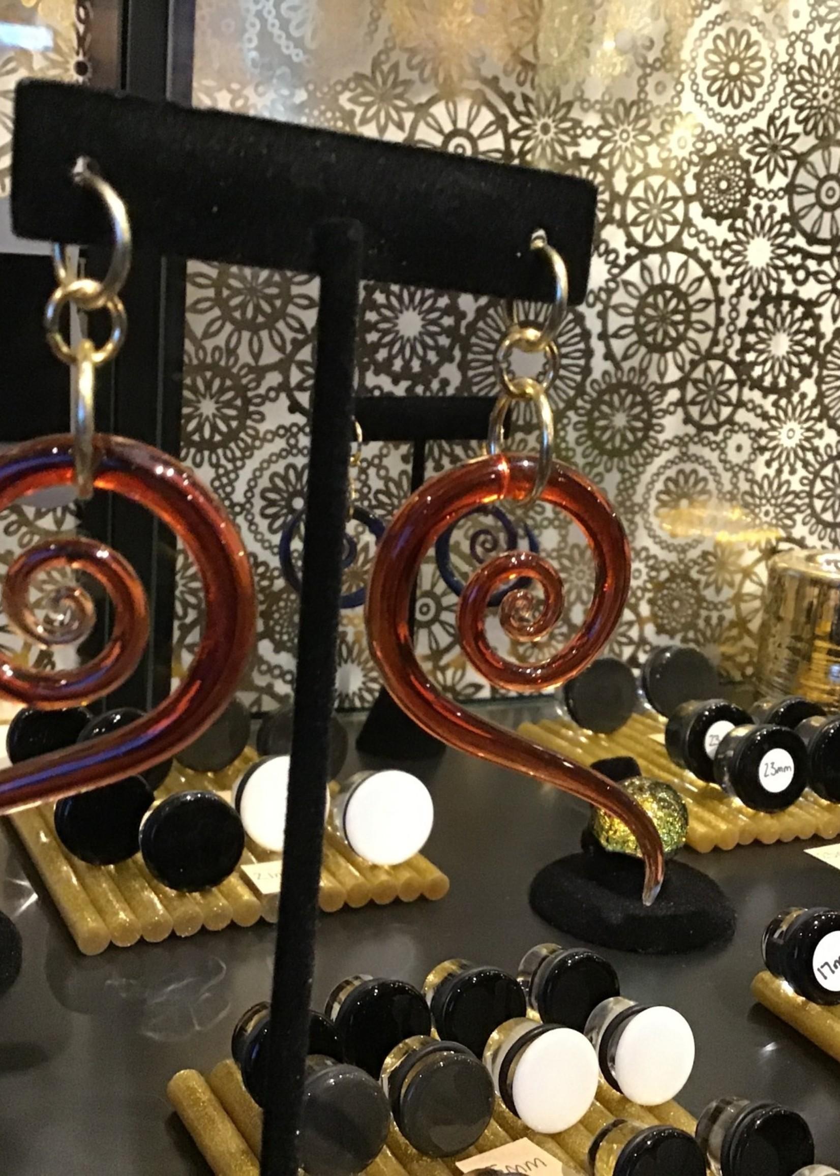 4g Glass Pomegranate Mini Sprial Snakes
