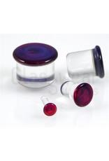12mm Single Flare Glass Plugs