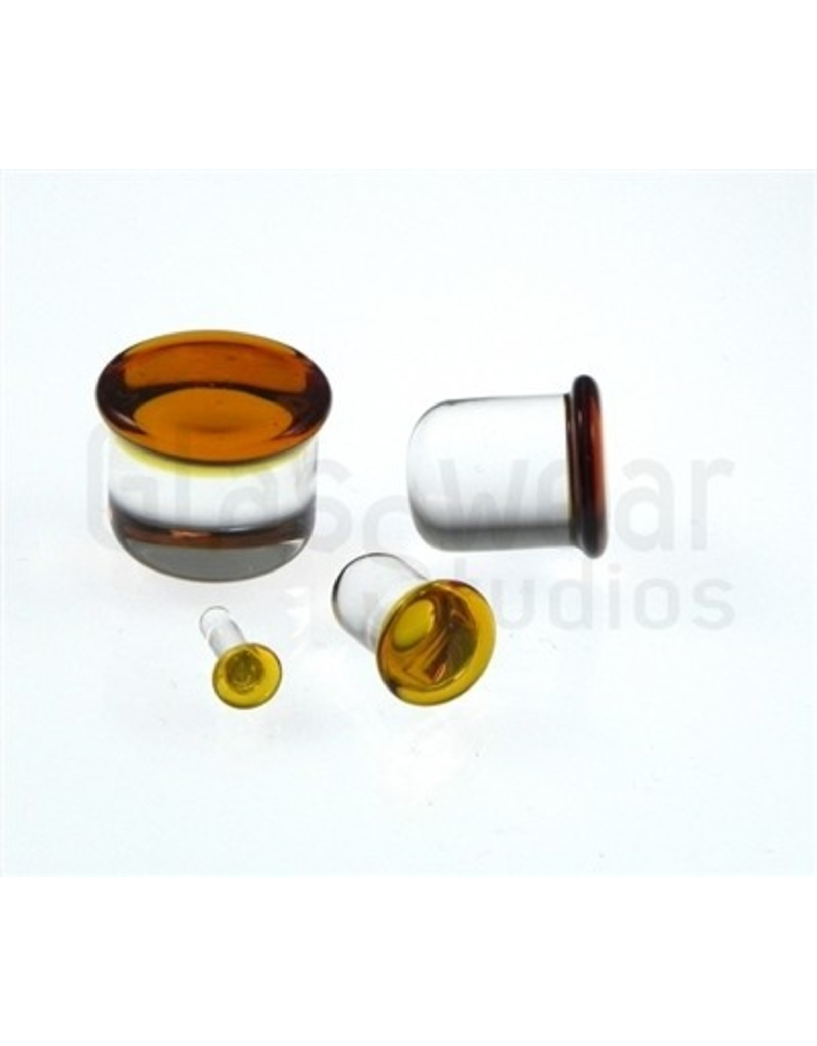 14g Glass Single Flare Plugs