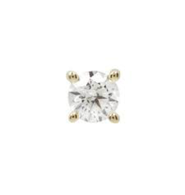 14k YG 2mm Prong Set CZ Threadless End