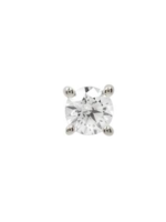 14k WG 2mm Prong Set CZ Threadless End