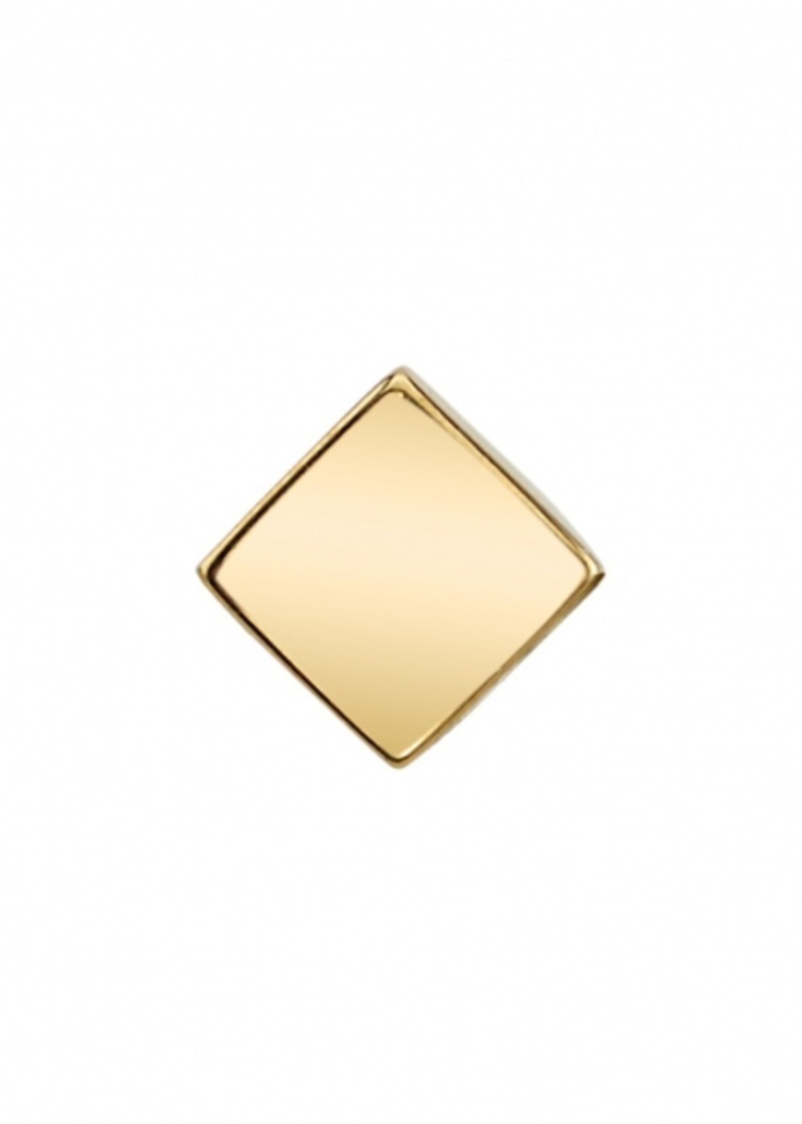 14k YG 2mm Mini Flat Square End