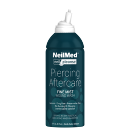 6fl oz.  STERILE SALINE PIERCING SPRAY