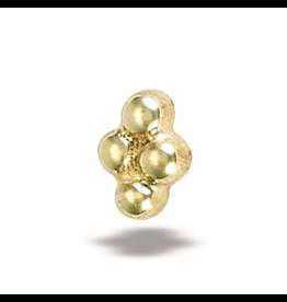 14k YG 4-Bead Threadless End