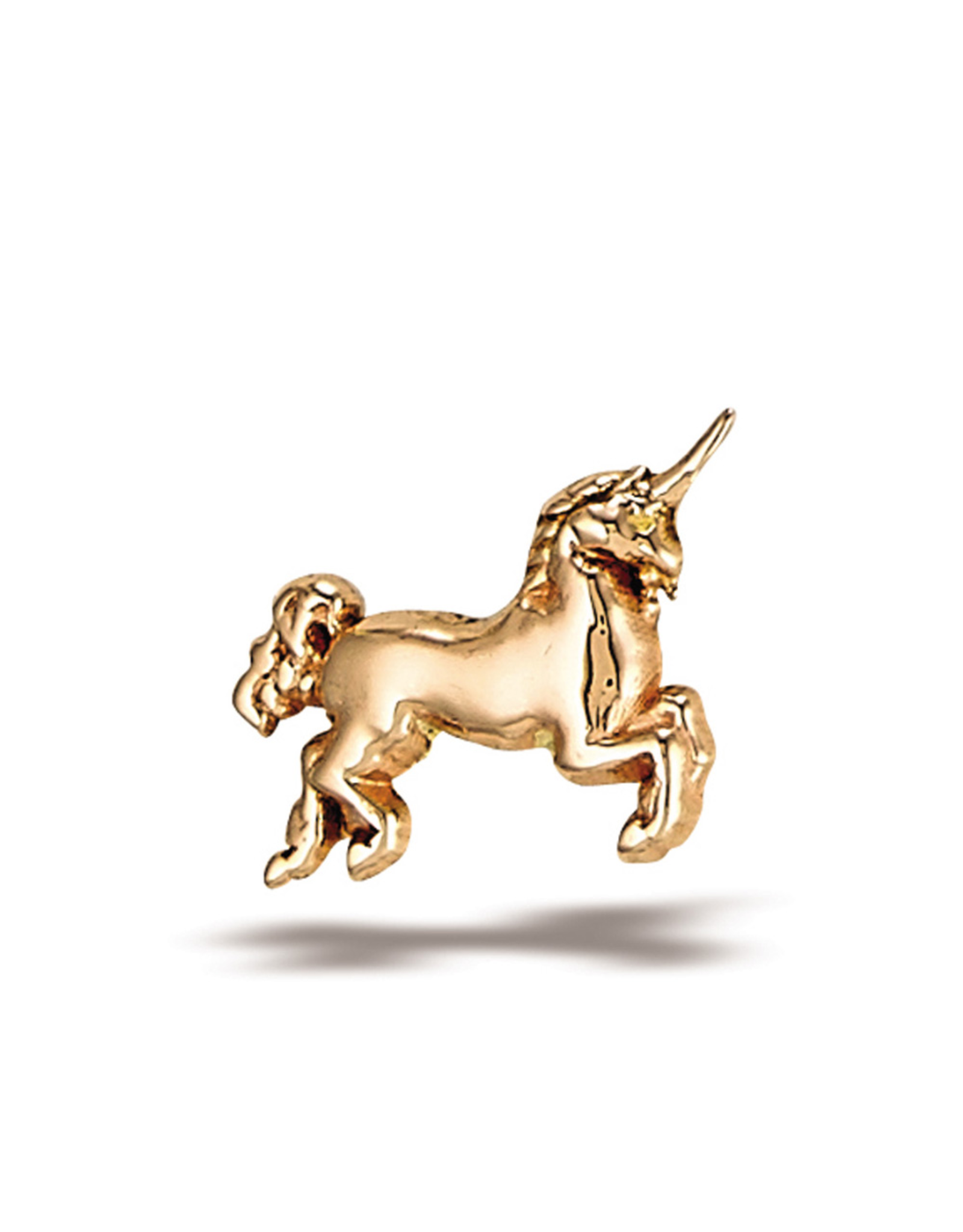 14k RG Unicorn (7.25x5.5mm) Threadless End