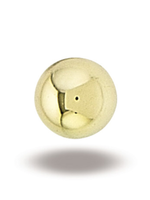 14k YG 3mm Ball End