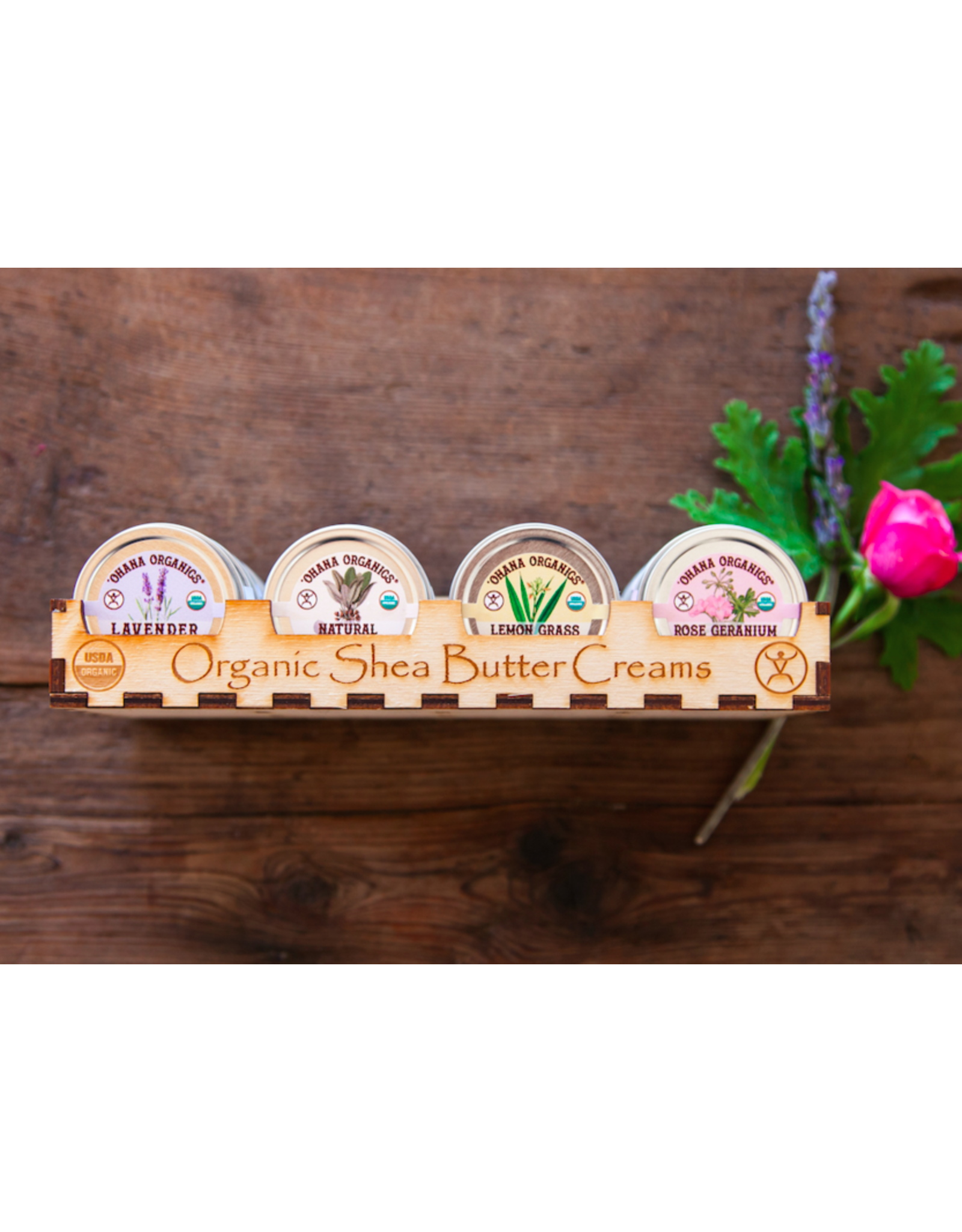 Rose Geranium Organic Shea Butter Cream - Large Size
