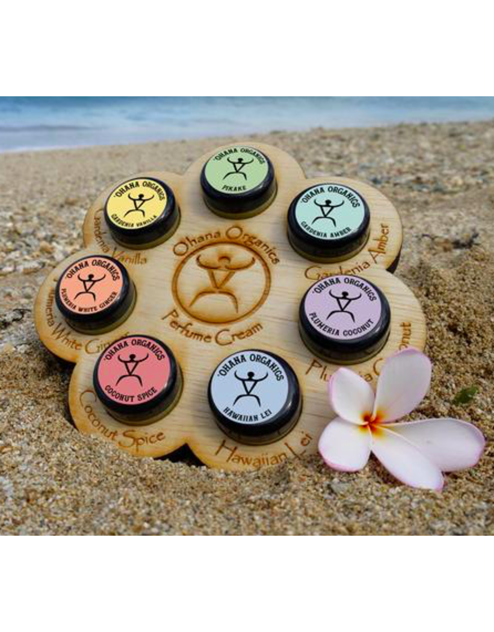 Hawaiian Lei Organic Solid Perfume Cream - Travel Size