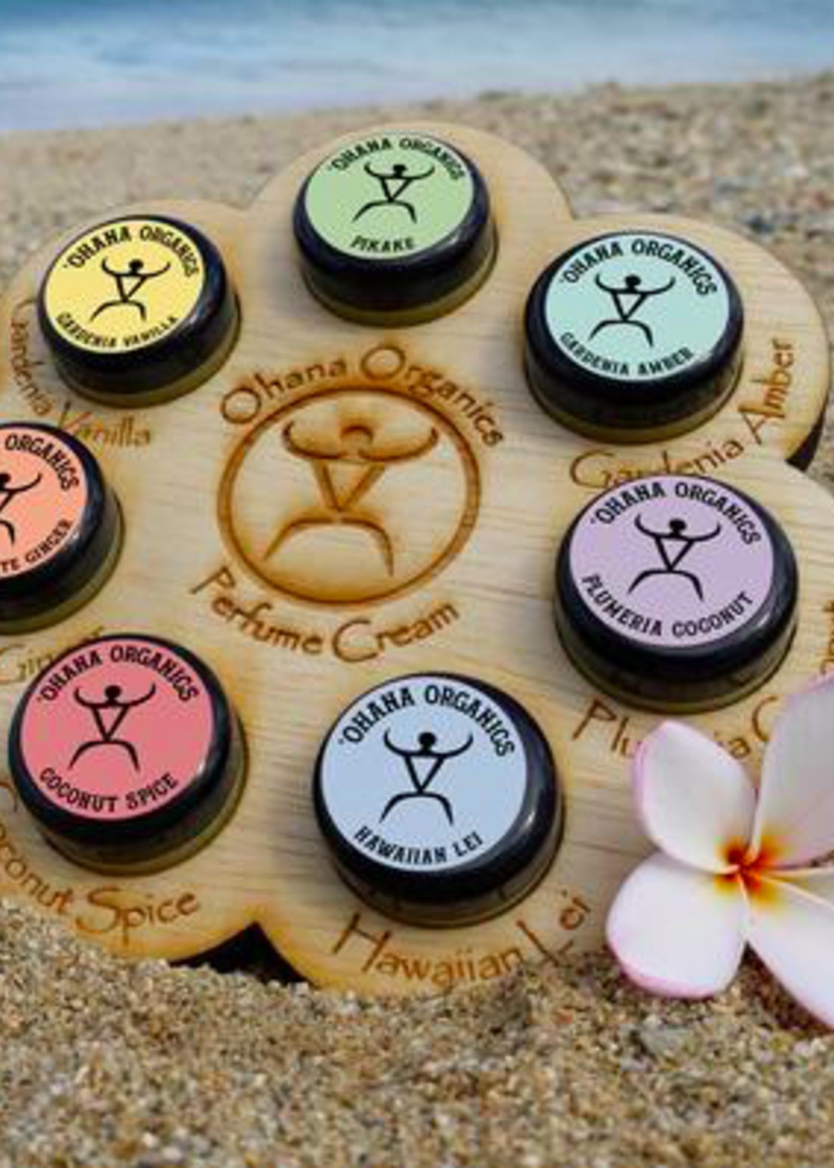 Plumeria Coconut Organic Solid Perfume Cream - Travel Size