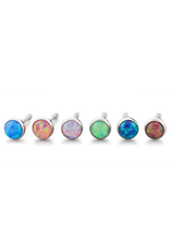 2.5mm Titanium Bezel Set Opal Ends