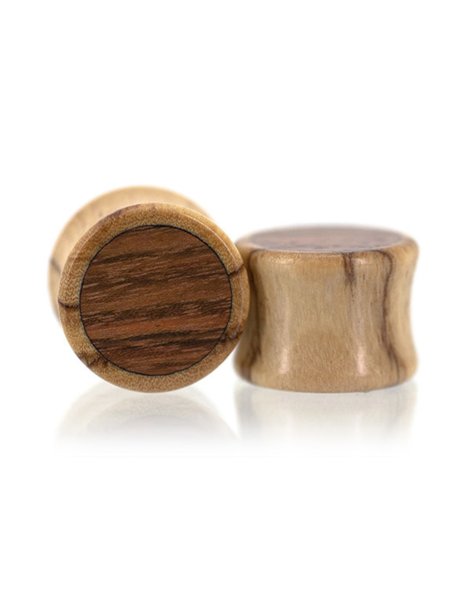 00g Two Wood Inlay Plugs