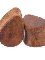 00g Amboyna Burl Wood Teardrops Plugs