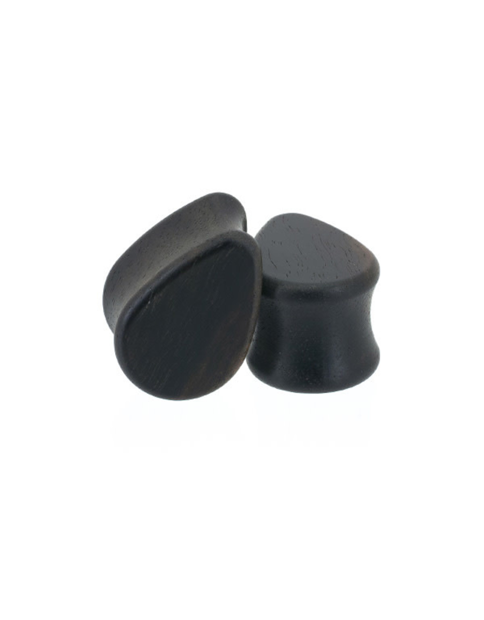0g Ebony Wood Teardrops
