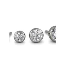2.5mm Titanium Bezel Set Gem Ends
