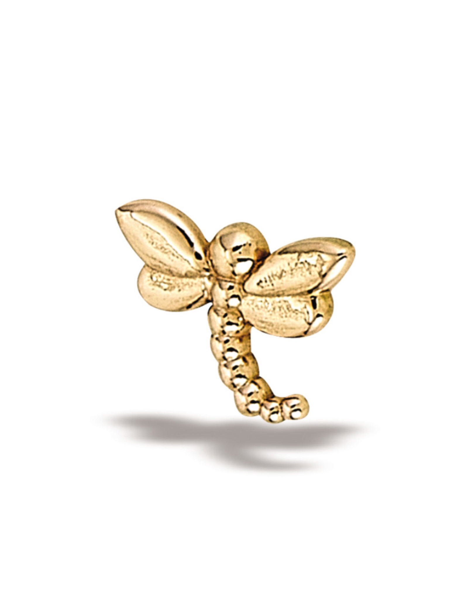14k RG LG Dragonfly (7.5mmx5.5) Threadless Pin