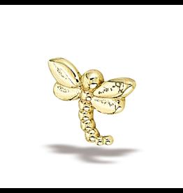 14k YG LG Dragonfly (7.5mmx5.5) Threadless Pin