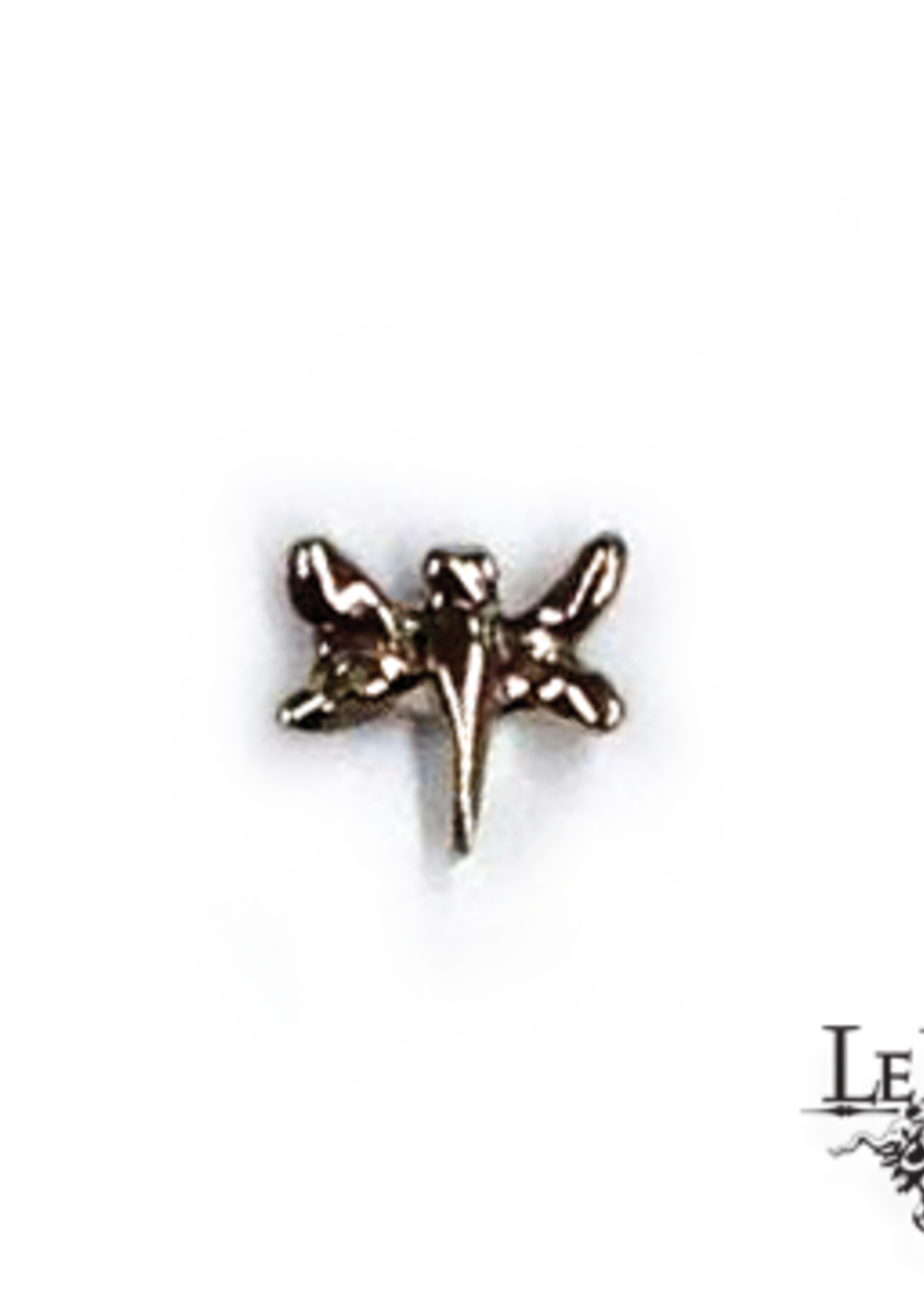 14k WG SM Dragonfly (3.5) Threadless Pin