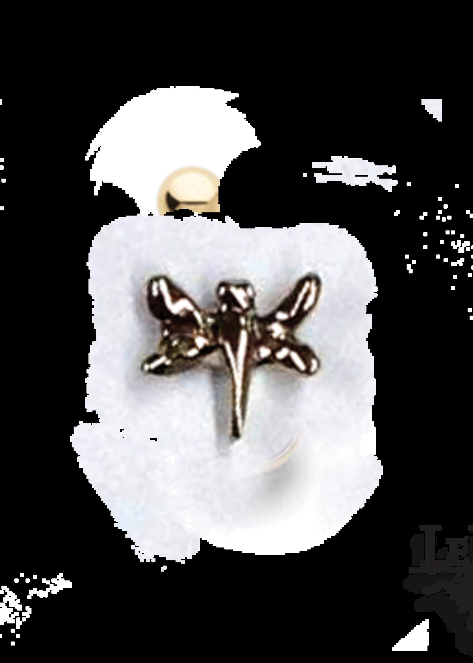 14k RG SM Dragonfly (3.5) Threadless Pin