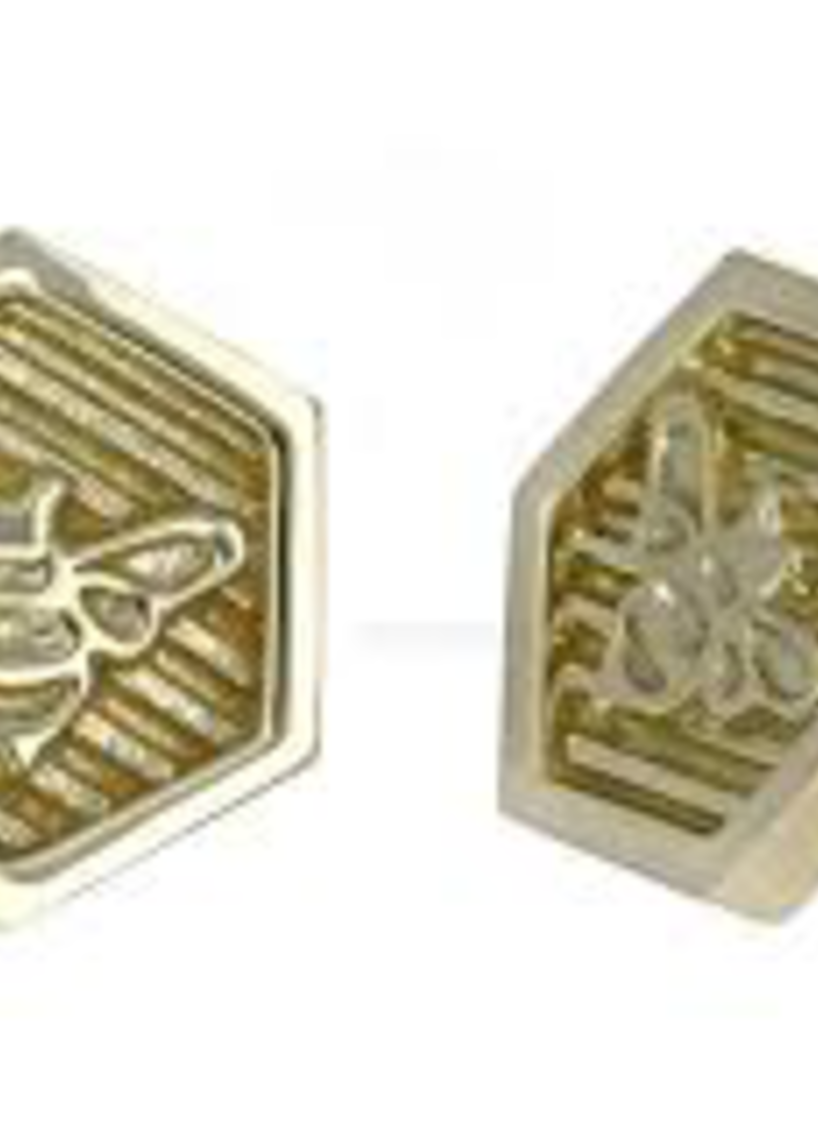 18k RG Hexagon Bee Threadless Pin