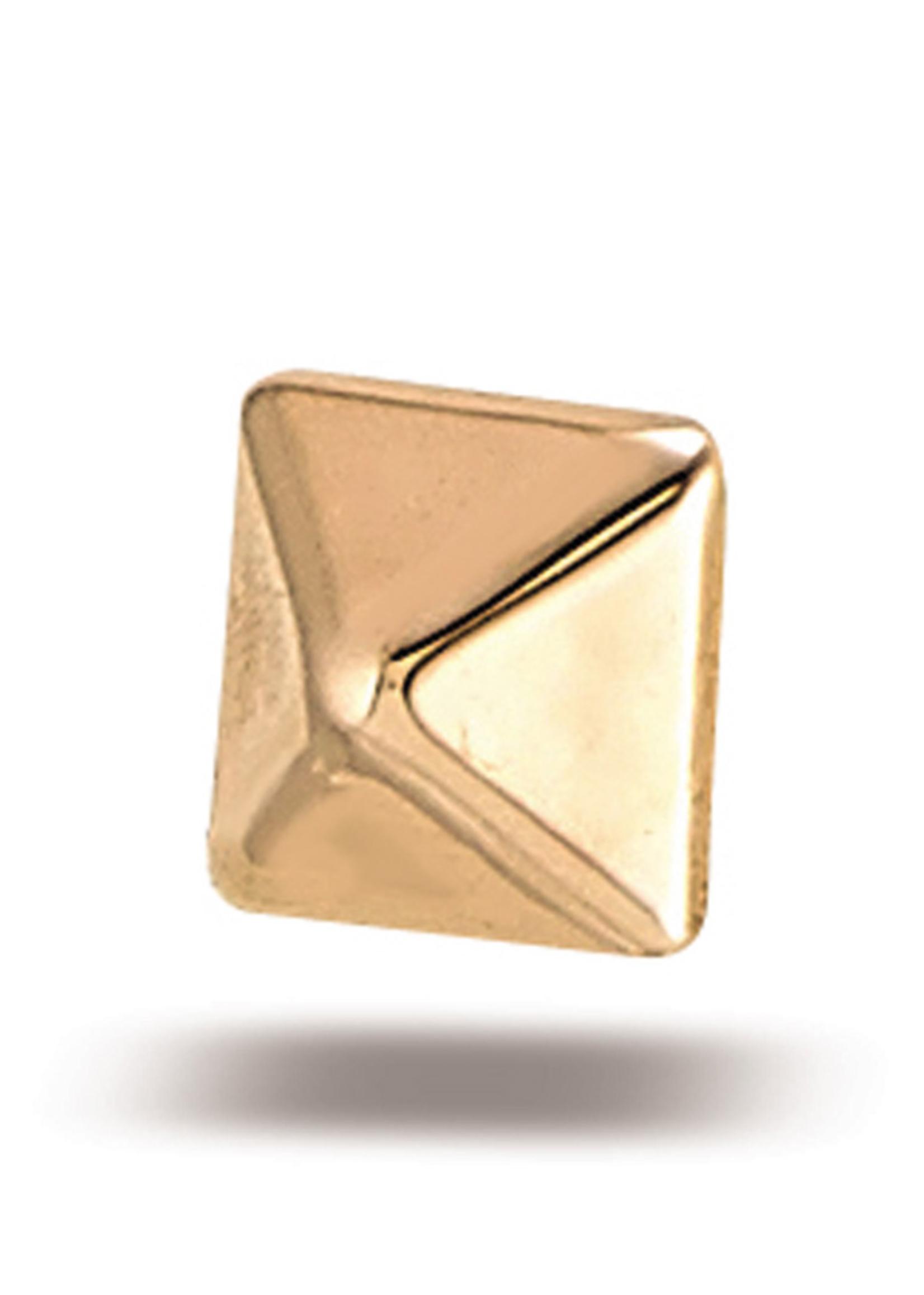 14k Rose Gold Pyramid (3.25mm)