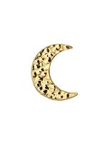 14k WG Hammered Cresent Moon (7.5mm)