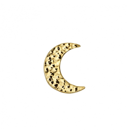 14k WG Hammered Cresent Moon (7.5mm)