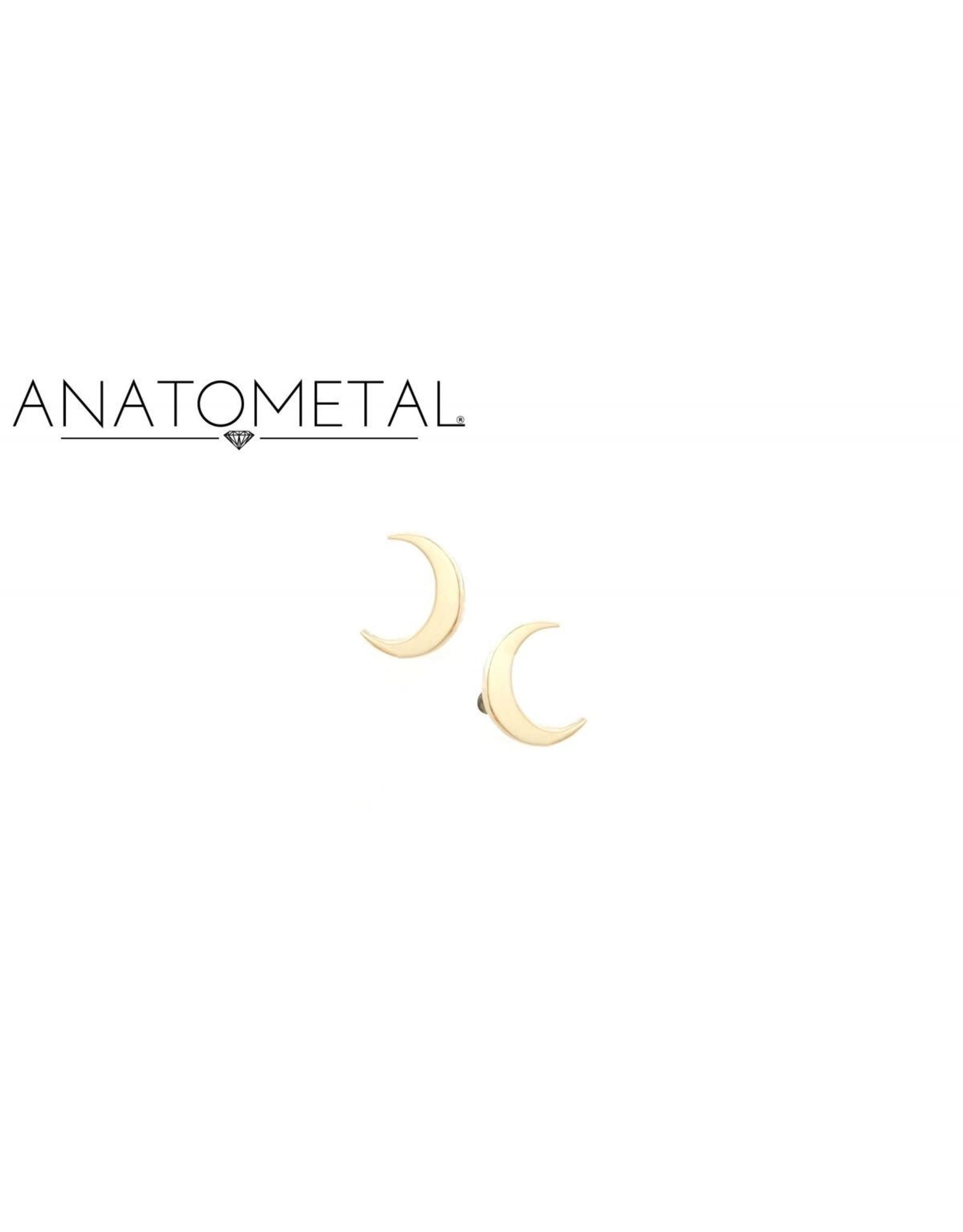 18k RG LG Crescent Moon (5mm) Threadless Pin
