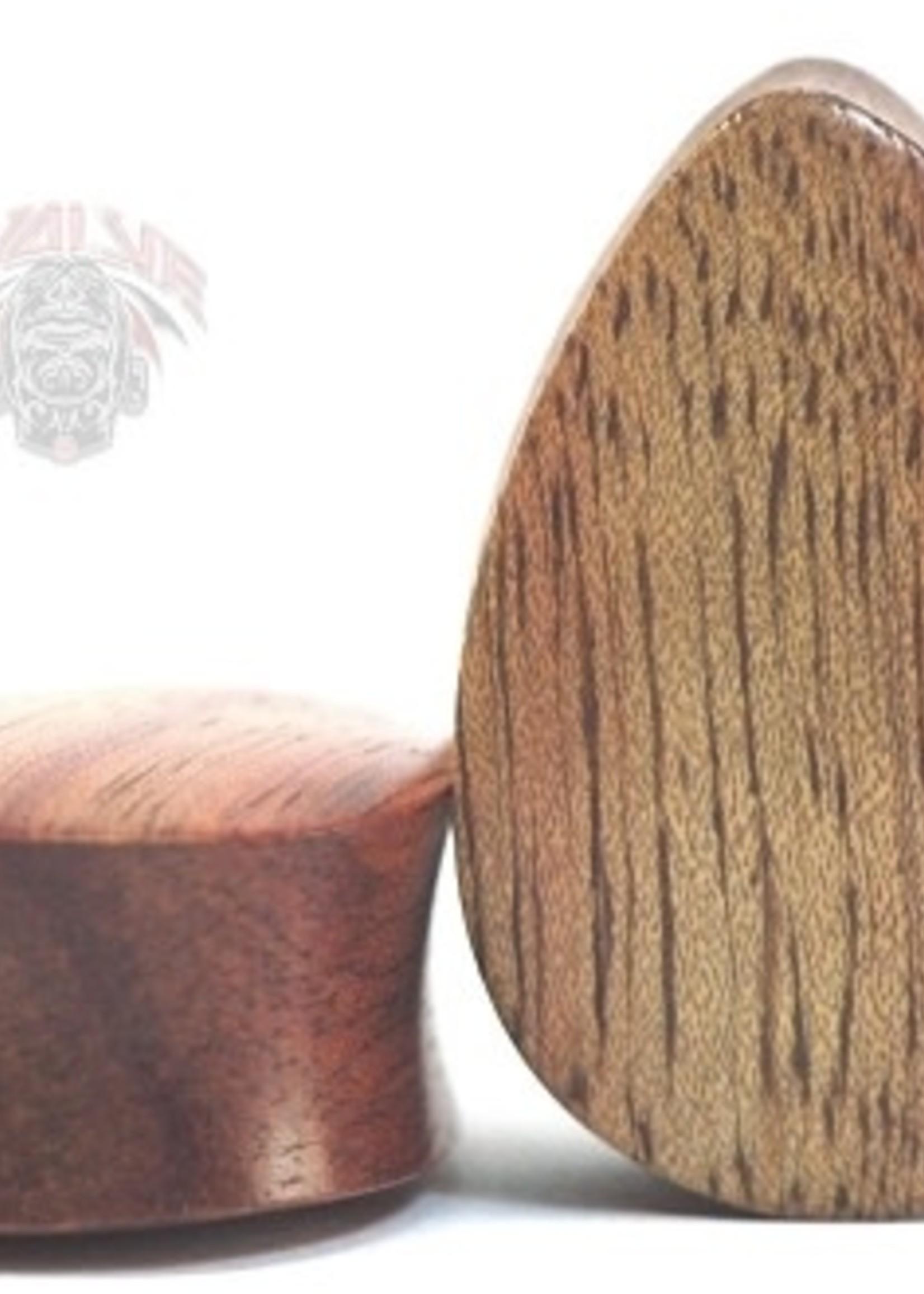 """5/8"""" Evolve Wood Teardrops Plugs"""
