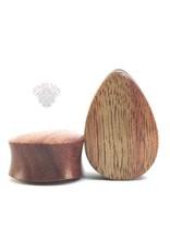 """1"""" Evolve Wood Teardrops Plugs"""