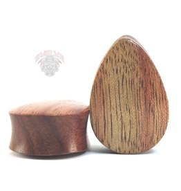 "1"" Evolve Wood Teardrops Plugs"