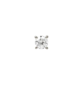 14k WG 2.5mm Prong Set CZ Threadless End