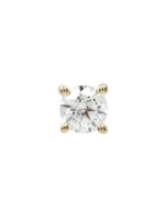 14k YG 3mm Prong Set CZ Threadless End