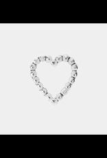 14k Tiny Love Beaded Heart Threadless End