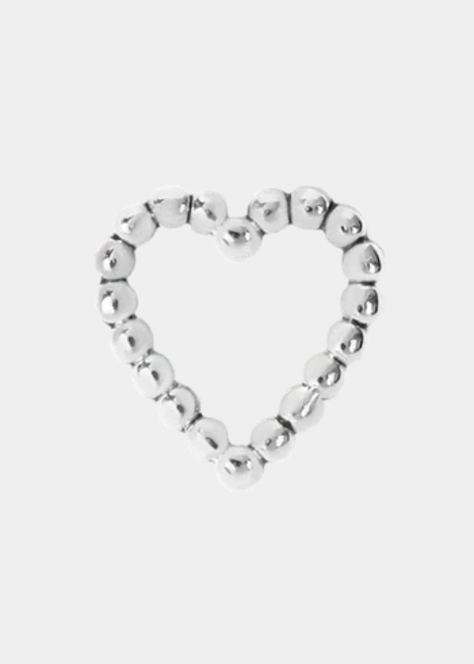 14k Tiny Love Beaded Heart Threadless End