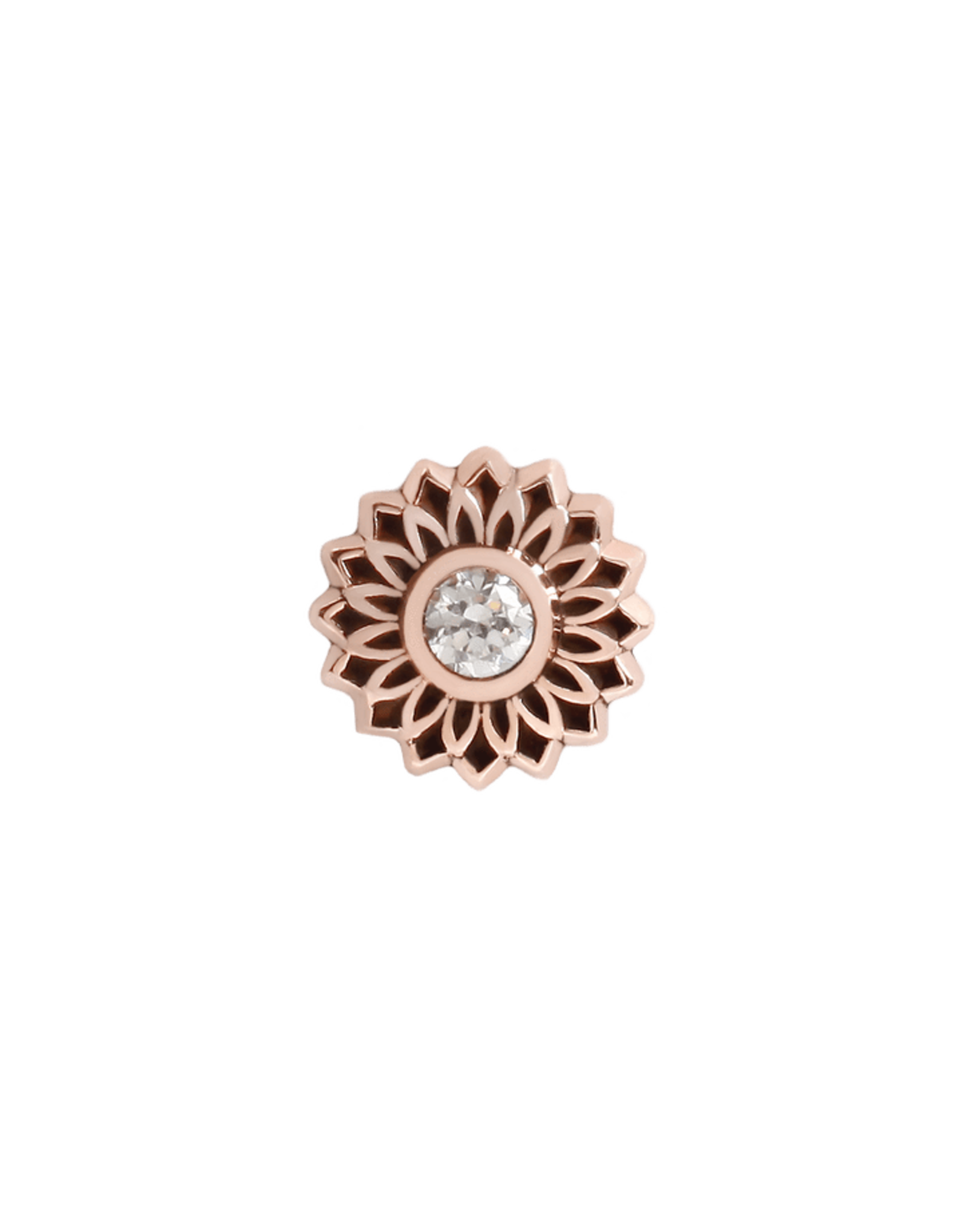 14k Thrive CZ Flower Threadless End