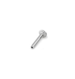 16g Titanium Threadless Flat Back Post (4mm Disk)