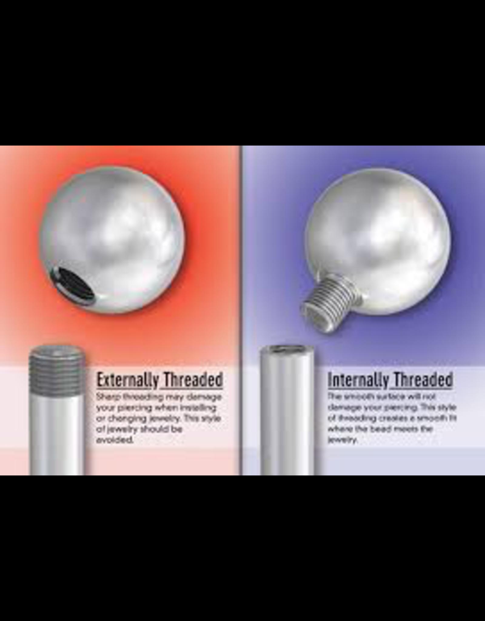 14g Titanium Internally Threaded Circular Barbell