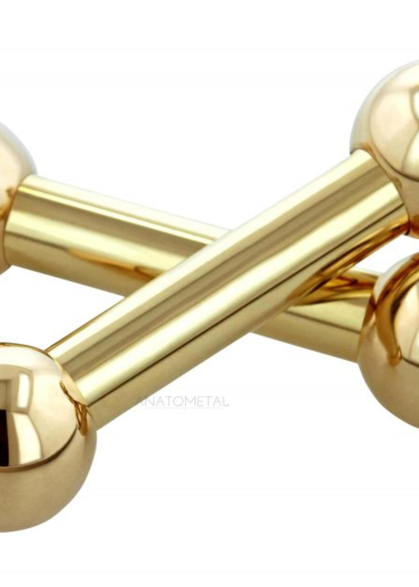 14g Titanium Internally Threaded Straight Barbell