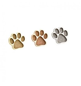 14k 6mm Sandblasted Paw Threadless End