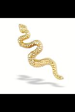 14k Snake Threadless End