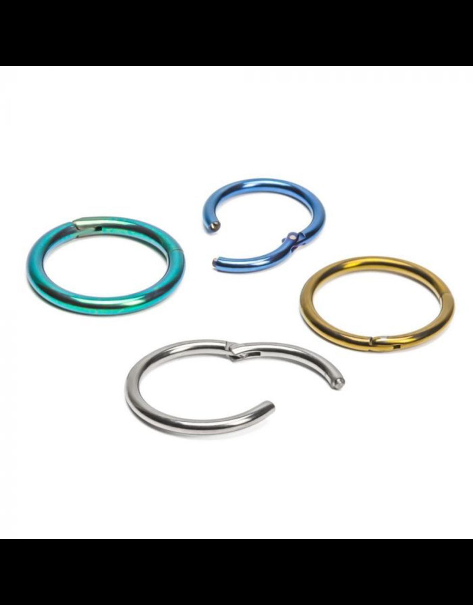 18g Titanium Hinged Rings