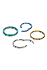 20g Titanium Hinged Rings