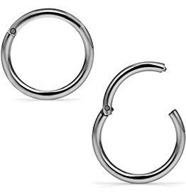 14g Titanium Hinged Rings
