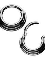 16g Titanium Stacked Hinged Rings