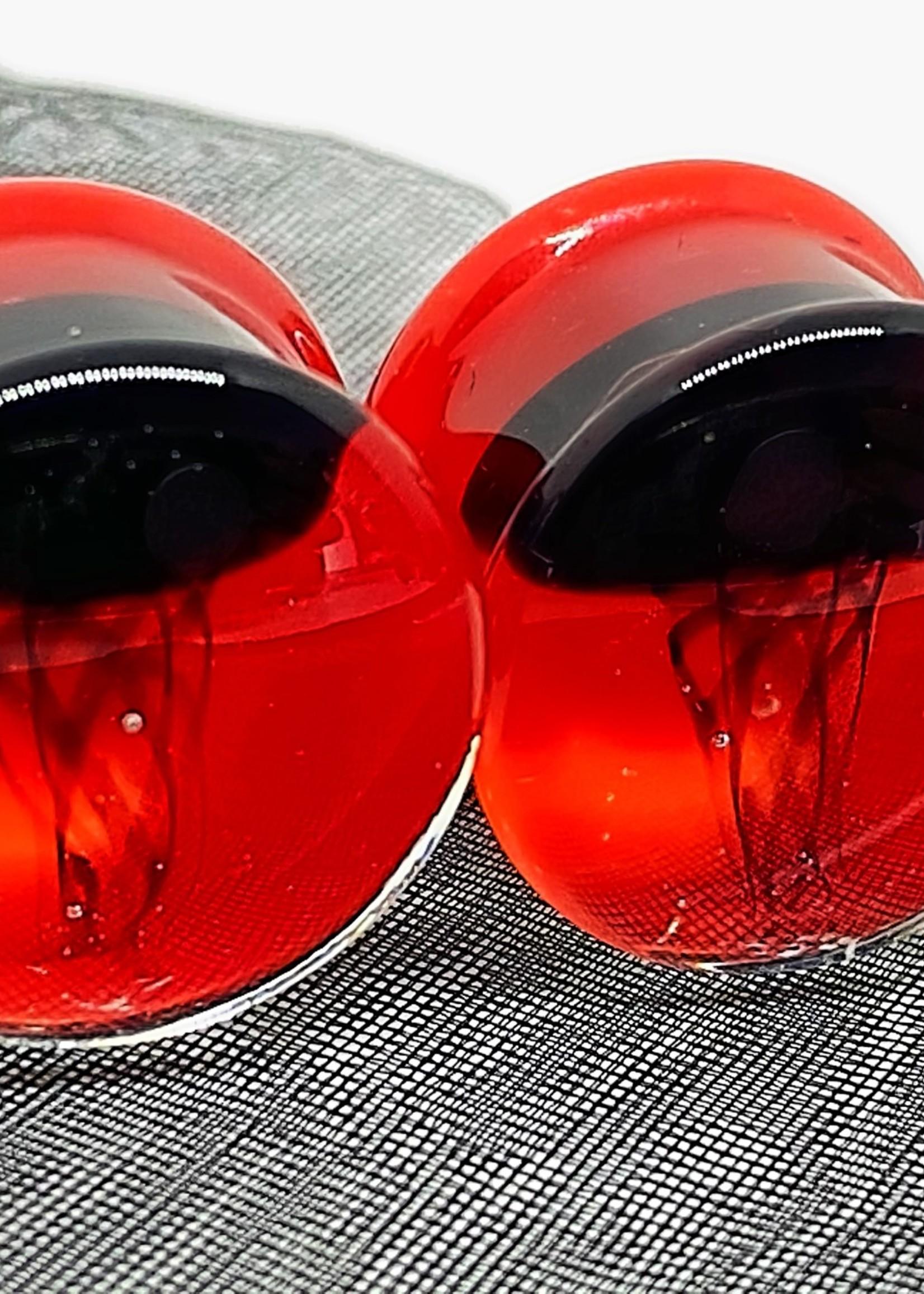 """5/8"""" Glass Jellyfish Plugs"""