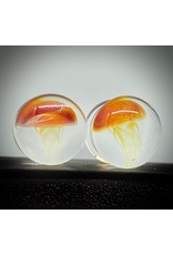 """1/2"""" Glass Jellyfish Plugs"""